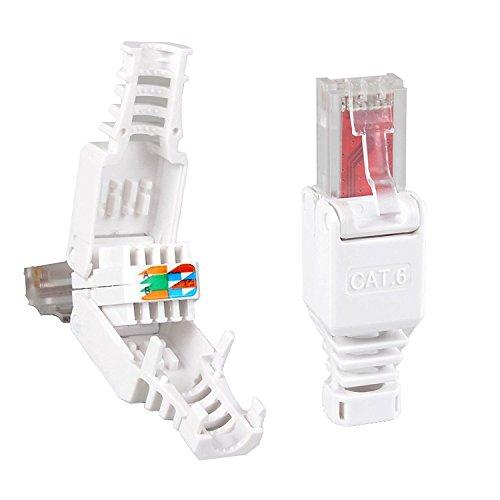 4 st ck netzwerkstecker werkzeuglos rj45 cat6 lan utp kabel stecker ohne werkzeug werkzeugfrei. Black Bedroom Furniture Sets. Home Design Ideas