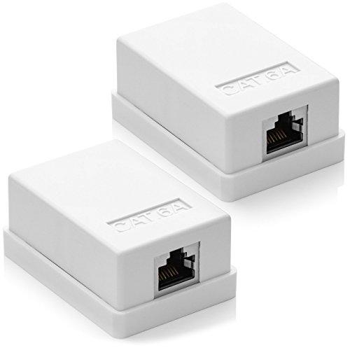 deleycon mk3528 cat 6a netzwerkdose 1x rj45 buchse ftp geschirmt aufputz montage 10 gbit. Black Bedroom Furniture Sets. Home Design Ideas
